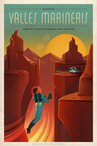NASA Mars Travel Poster